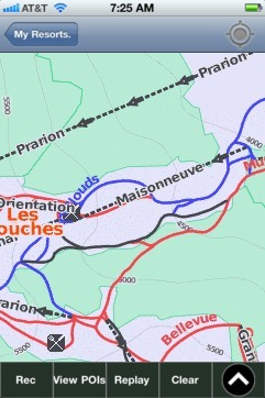 Les Houches ski map - iPhone Ski App