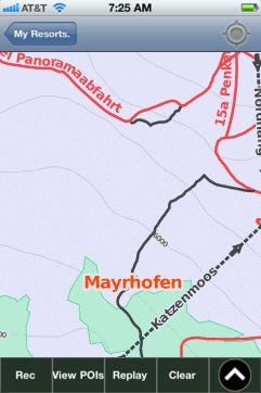 Mayrhofen ski map - iPhone Ski App