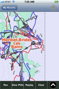 Meribel-Brides Les Bains ski map - iPhone Ski App