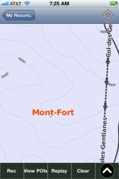 Mont-Fort ski map - iPhone Ski App