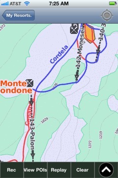 Monte Bondone ski map - iPhone Ski App