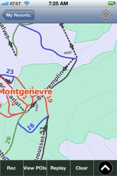 Montgenevre ski map - iPhone Ski App
