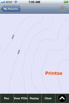 Printse ski map - iPhone Ski App