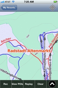 Radstadt-Altenmarkt ski map - iPhone Ski App