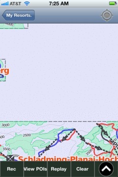 Schladming Dachstein ski map - iPhone Ski App