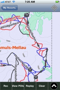 Damuls-Mellau-Faschina ski map - iPhone Ski App