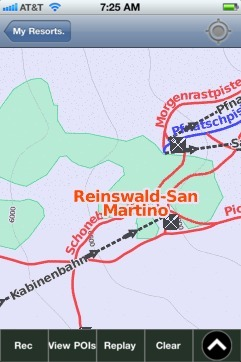 Reinswald-San Martino ski map - iPhone Ski App