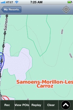 Samoens-Morillon-Les Carroz ski map - iPhone Ski App