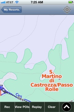 S. Martino di Castrozza/Passo Rolle ski map - iPhone Ski App