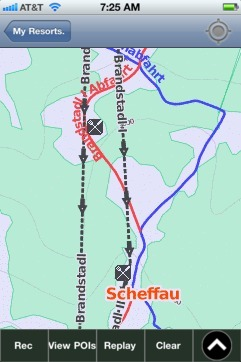 Scheffau ski map - iPhone Ski App