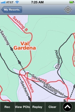Val Gardena ski map - iPhone Ski App