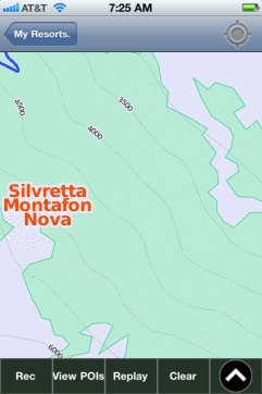 Silvretta Montafon Nova ski map - iPhone Ski App