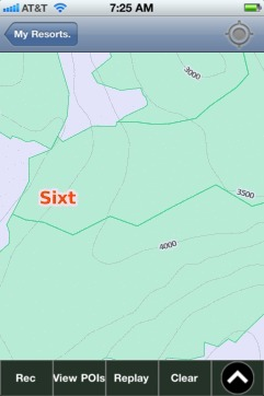 Sixt ski map - iPhone Ski App