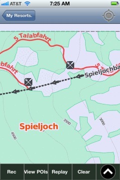 Spieljoch ski map - iPhone Ski App