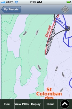 St Colomban des Villards ski map - iPhone Ski App