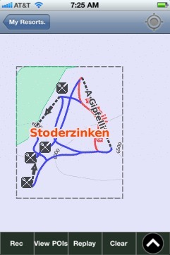 Stoderzinken ski map - iPhone Ski App