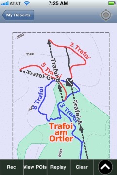 Trafoi am Ortler ski map - iPhone Ski App