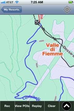 Valle di Fiemme ski map - iPhone Ski App