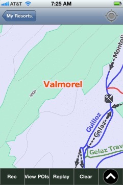 Valmorel ski map - iPhone Ski App