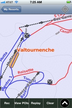 Valtournenche ski map - iPhone Ski App