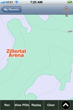 Zillertal Arena ski map - iPhone Ski App