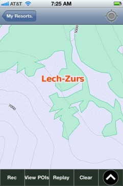 Lech-Zurs ski map - iPhone Ski App