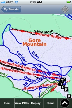Gore Mountain ski map - iPhone Ski App