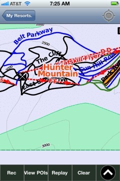 Hunter Mountain ski map - iPhone Ski App