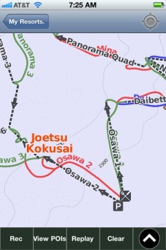 Joetsu Kokusai Niigata Ski App Ski App Android IPhone - Joetsu map
