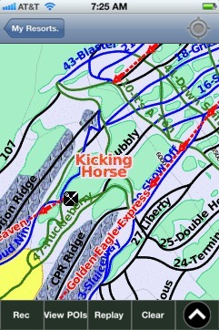 Kicking Horse ski map - iPhone Ski App