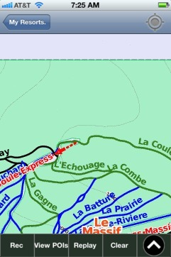 Le Massif(QC) ski map - iPhone Ski App