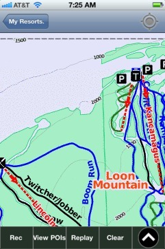 Loon Mountain ski map - iPhone Ski App