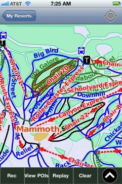Mammoth ski map - iPhone Ski App