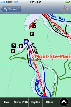 Mont-Ste-Marie, QC ski map - iPhone Ski App
