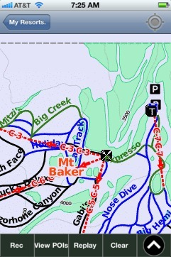 Mt Baker ski map - iPhone Ski App