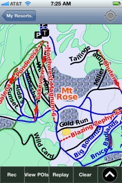 Mt. Rose ski map - iPhone Ski App