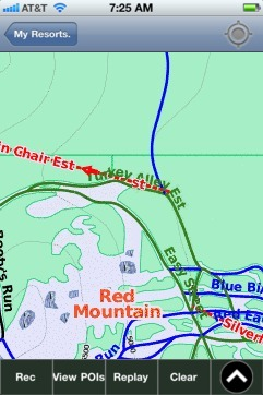 Red Mountain ski map - iPhone Ski App