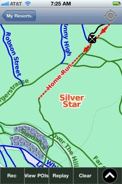 Silver Star ski map - iPhone Ski App