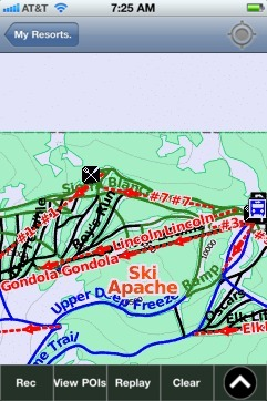 Ski Apache ski map - iPhone Ski App