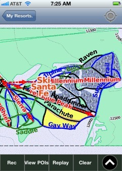 Ski Santa Fe ski map - iPhone Ski App