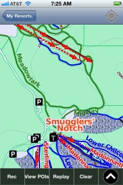 Smugglers' Notch ski map - iPhone Ski App