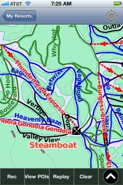 Steamboat ski map - iPhone Ski App