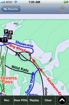 Stevens Pass ski map - iPhone Ski App