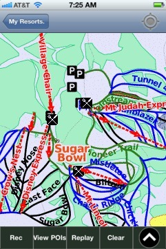 Sugar Bowl ski map - iPhone Ski App