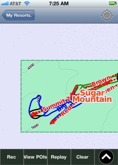 Sugar Mountain ski map - iPhone Ski App