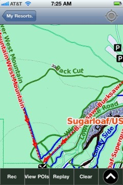 Sugarloaf USA ski map - iPhone Ski App