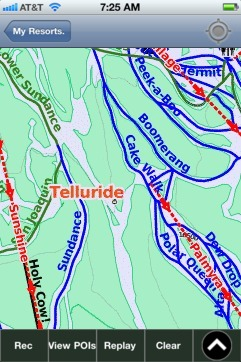 Telluride ski map - iPhone Ski App
