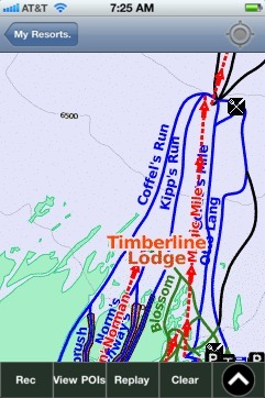 Timberline Lodge ski map - iPhone Ski App