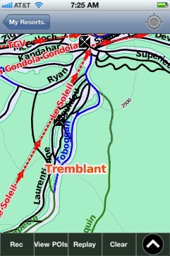 Tremblant ski map - iPhone Ski App