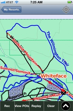 Whiteface ski map - iPhone Ski App